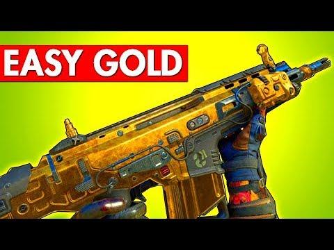 EASY Gold Camo Assualt Rifles - BO4 Dark Matter Tips