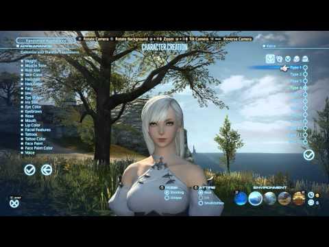 Final Fantasy XIV Realm Reborn Character Creation HD