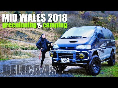 Delica L400 Green Laning and Camping - Mid Wales