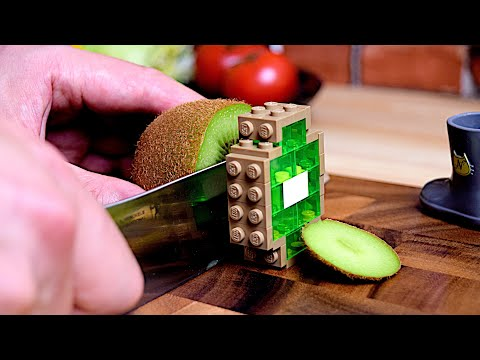 Lego Breakfast - Lego In Real Life 5 / Stop Motion Cooking & ASMR