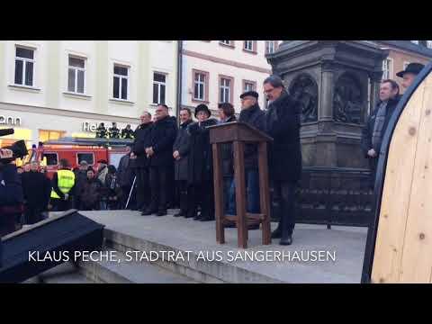 Eisleben: Protestaktion zum Politischen Aschermittwoch