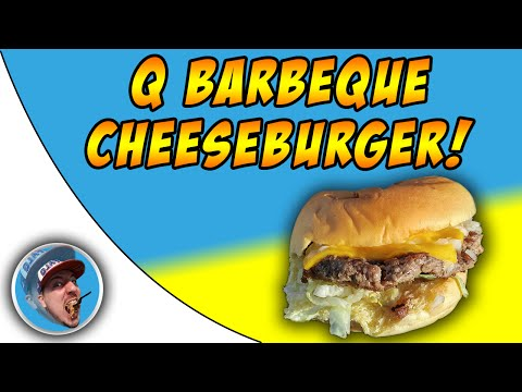 Q Barbeque Cheeseburger! - Food Review!