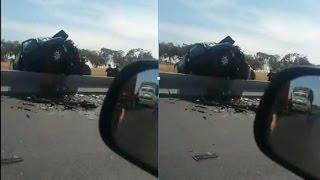 فيديو..حادثة سير خطيرة على مشارف تزنيت تودي بحياة إمرأة ورجل