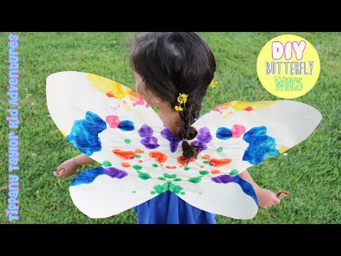 DIY How to make EASY paper Butterfly Wings for KIDS that ACTUALLY STAY UP! 4K GoPro 5