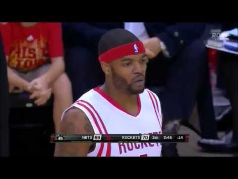 Josh Smith stuffs Brook Lopez, recovers to swat away dunk
