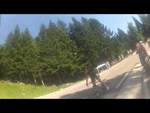 Thomas - Stage 13, 18th July 2014. Stops halfway up the HC on the final climb of the day to Chamrousse from Saint Etienne. Not sure why a professional sportmans would stop because they were booed by...