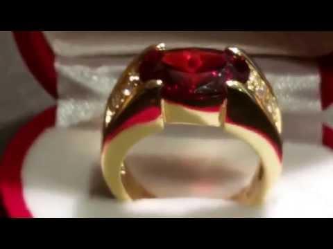 Ruby men's ring 10 kt garnet