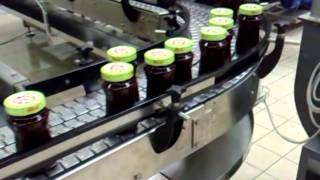 Automatic Conditioning Jam Line in Glass Jars manufactured by Carlo Migliavacca S.r.l.Visit http://www.carlomigliavacca.com/en/