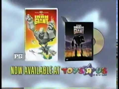 The Iron Giant VHS & DVD Commercial (1999)