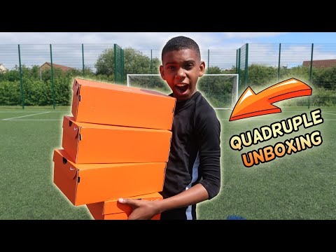 Unboxing 4 Epic Pairs Of  Nike Football Boots / Cleats | KAILEM