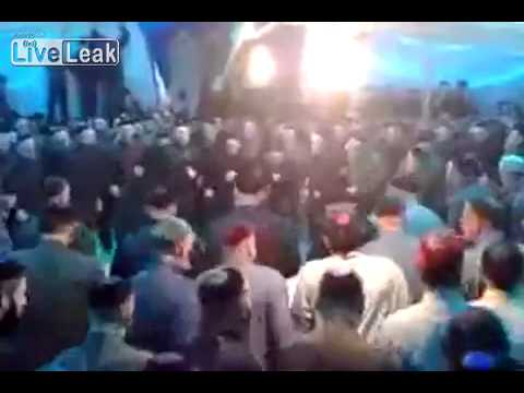 Chechen dance - What they are doing is a very typical Sufi Muslim thing called 'dhikr' which means remembrance or recitation. They use Quranic verses, poems or Islamic chant...