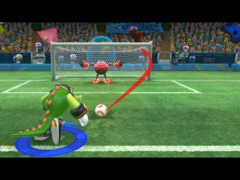 Football -Team Vector Vs Team Sonic(CPU) Mario And Sonic At The Rio 2016 Olympic Games