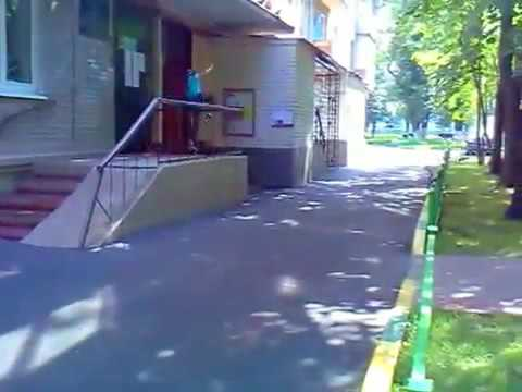 slow motion Russian real parkour