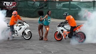 Video Bike Stunts Yamaha R6 and Honda CBR Burnouts,Drifts & wheelies MP3, 3GP, MP4, WEBM, AVI, FLV Agustus 2017