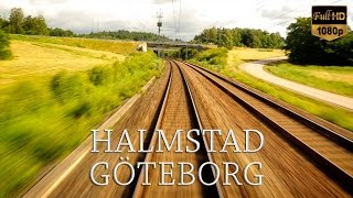 Train Drivers Eye View Halmstad to Göteborg. Kingdom of Sweden