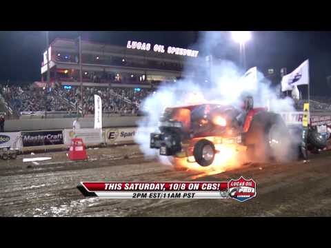 Super Stock Tractor explodes at Lucas Oil Pro Pulling League