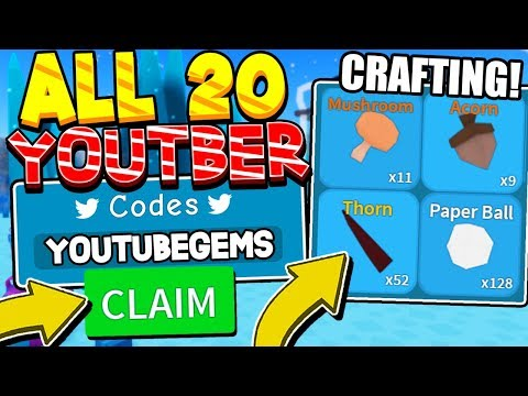 ALL 20 YOUTUBER CODES AND CRAFTING UPDATE SOON IN UNBOXING SIMULATOR! Roblox