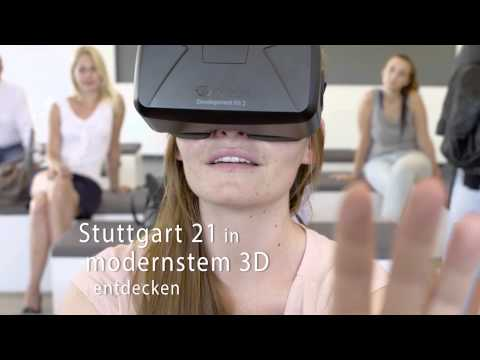 Das Virtual Reality Exponat im Turmforum Stuttgart