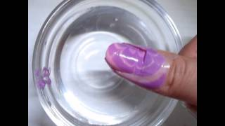 Water Marble Nail Art Tutorial水染美甲小教程