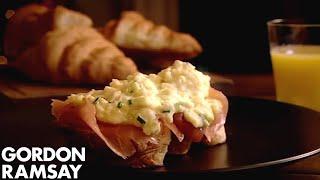 Scrambled Eggs & Smoked Salmon On Toasted Croissants | Gordon Ramsay by Gordon Ramsay