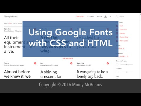 Google Fonts With Html And Css 2016