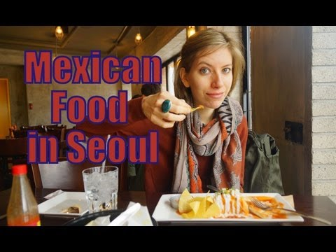 Eating fajitias & enchiladas at a Korean Mexican