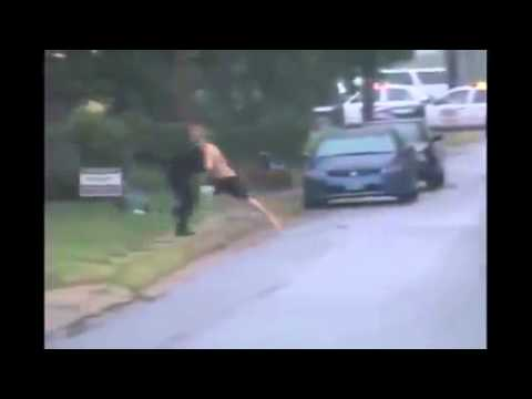 The Long Arm of the Law (cop clothelines a running suspect)