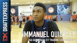 Immanuel Quickley USA Basketball U17 Training Camp Interview