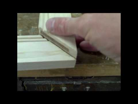 making doors - Two different methods to make mitered cabinet doors for your kitchen.