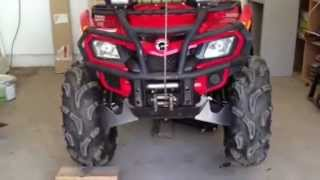 8. Can Am Outlander 2012 400 efi Front differential test (Visco lock), something wrong..