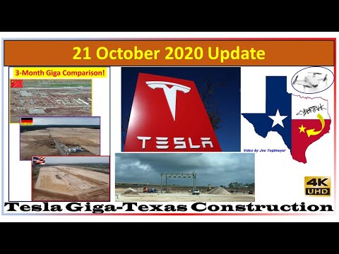Tesla Gigafactory Texas 21 October 2020 Construction Update (09:45 AM)