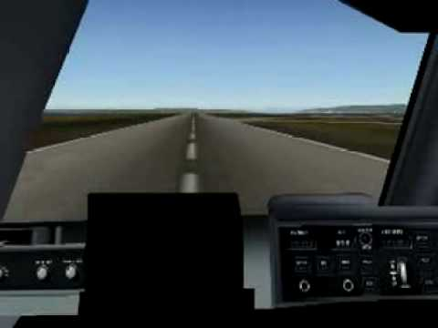 Manually landing a Boeing C-17...