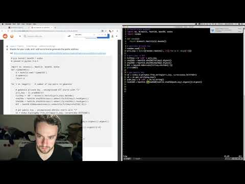 George Hotz | Programming | Sending A Transaction With BITCOIN CASH From SCRATCH