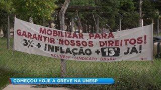 Funcionários da Unesp de Bauru entram em greve e outras unidades aderem ao movimento