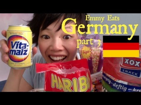 germany - Tasting more German snacks, sweets, and beverages in Part 3 of Emmy Eats Germany. Many thanks to Christian for sending such a great variety of treats. Subscr...