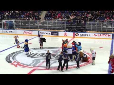 Шоу талисманов клубов КХЛ в перерыве Матча Звезд 2016 (видео)