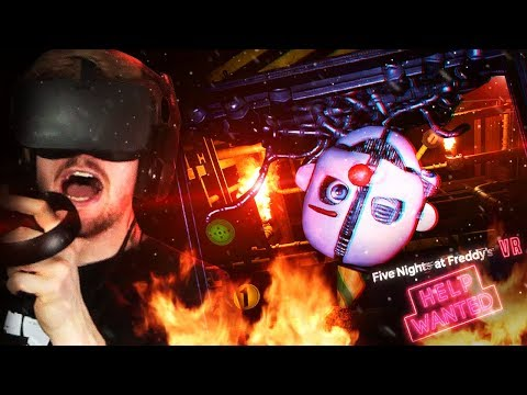 Taking On Ennard In The Boiler Room. (crazy..) || Fnaf Vr: Help Wanted (part 4)