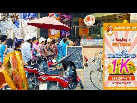 Xếp hàng mua Bánh Mì Color Man 1K (1 ngàn) ở Sài Gòn - Thời lượng: 17:15.