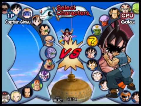 Dragon Ball Z Infinite World   Todos Personagens