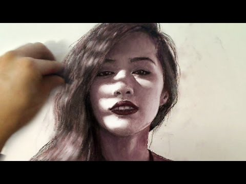 Art using just Make-Up material?! Michelle Phan Portrait