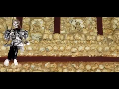Kicking Skeleton on Swing Prop – Halloween Decoration   trendyhalloween.com