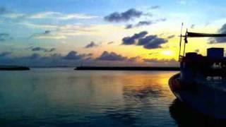 a combination of different time lapse videos shot on different days (Naifaru dhivehi divehi arabic madhaha nasheed sunrise sunset)