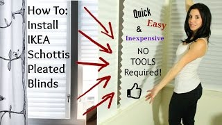 Video How To Install IKEA Blinds - Schottis Pleated Shades MP3, 3GP, MP4, WEBM, AVI, FLV Oktober 2018