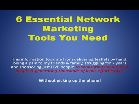 6 Essential Network Marketing Tools For Explosive Success
