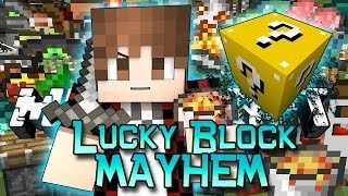 Minecraft: NEW Lucky Block Mayhem! Modded Mini-Game w/Mitch&Friends!