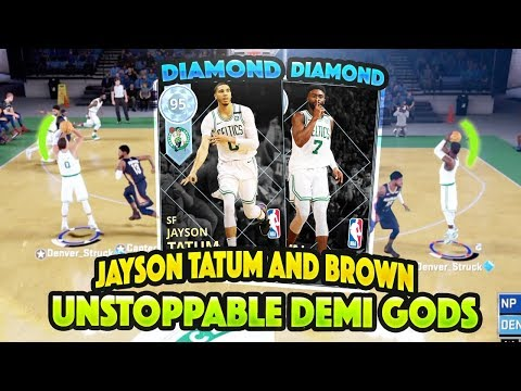DIAMOND JAYSON TATUM AND JAYLEN BROWN ARE UNSTOPPABLE DEMI GODS!!! DUO IS TO OVERPOWERED!! NBA 2K18