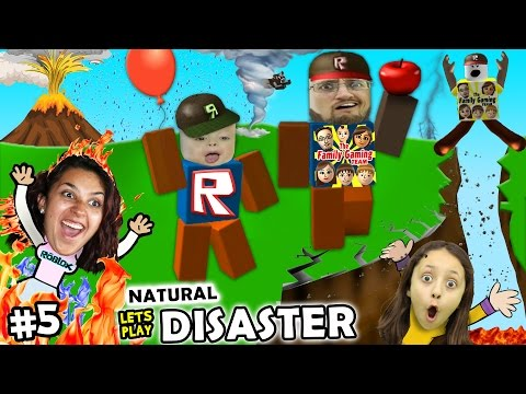 Let's Play ROBLOX #5: SAVE FAMILY OR PLAY GAMES?  Natural Survival Disaster w/ FGTEEV Duddy & Chase (видео)