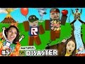 Let's Play ROBLOX #5: SAVE FAMILY OR PLAY GAMES?  Natural Survival Disaster w/ FGTEEV Duddy n Chase