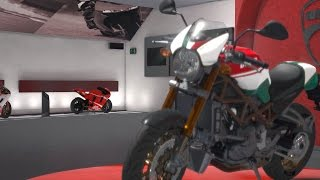 10. Ducati Monster S4RS Tricolore 2008 - DUCATI - 90th Anniversary - Test Ride Gameplay (HD) [1080p]