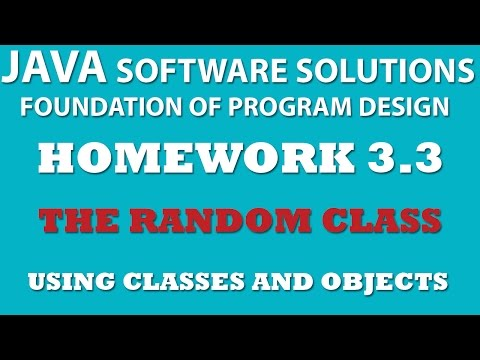 Java: Using Random Class (Ex 3.3) – Using Classes and Objects